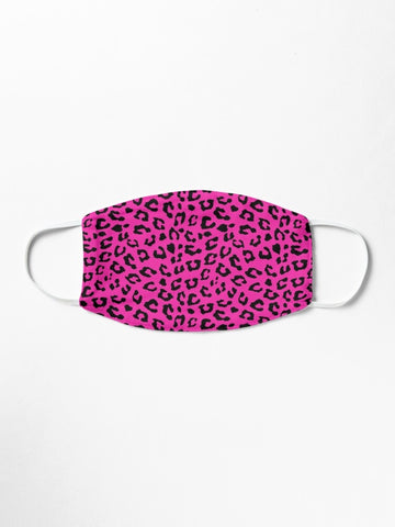 Hot Pink Leopard Face Mask