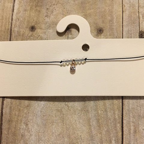 Black Diamond Clear Stone Choker