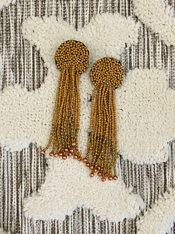 Neutral Lightweight Beaded Earrings