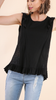 Flirty Black Top w/Lace & Crochet detail