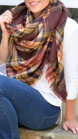 Brown Tones Blanket Scarf