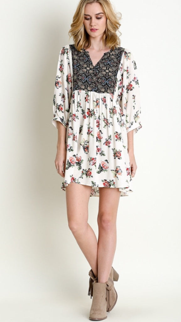 Peasant Floral Dress