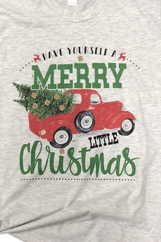 Merry Little Christmas Tee Youth
