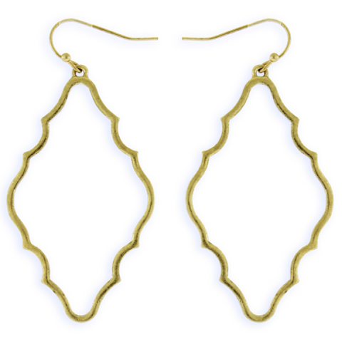 Moroccan Style Gold Earrings