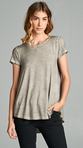 Mineral Washed Grey Top
