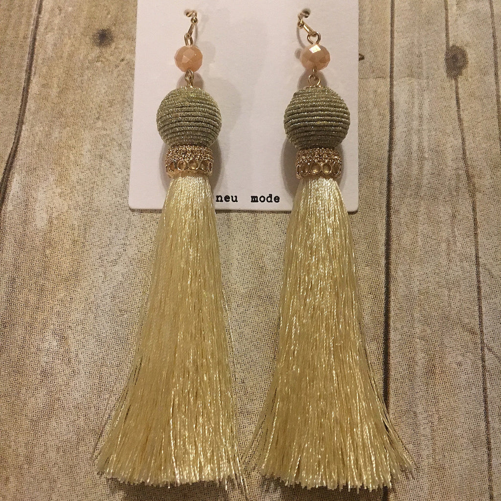 Blush Sage Cream Tassel
