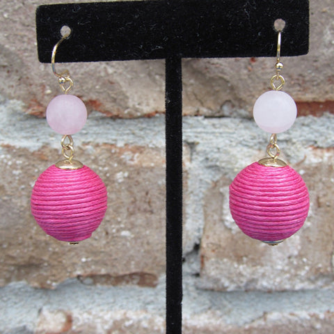 Have a Ball Pink Earrings