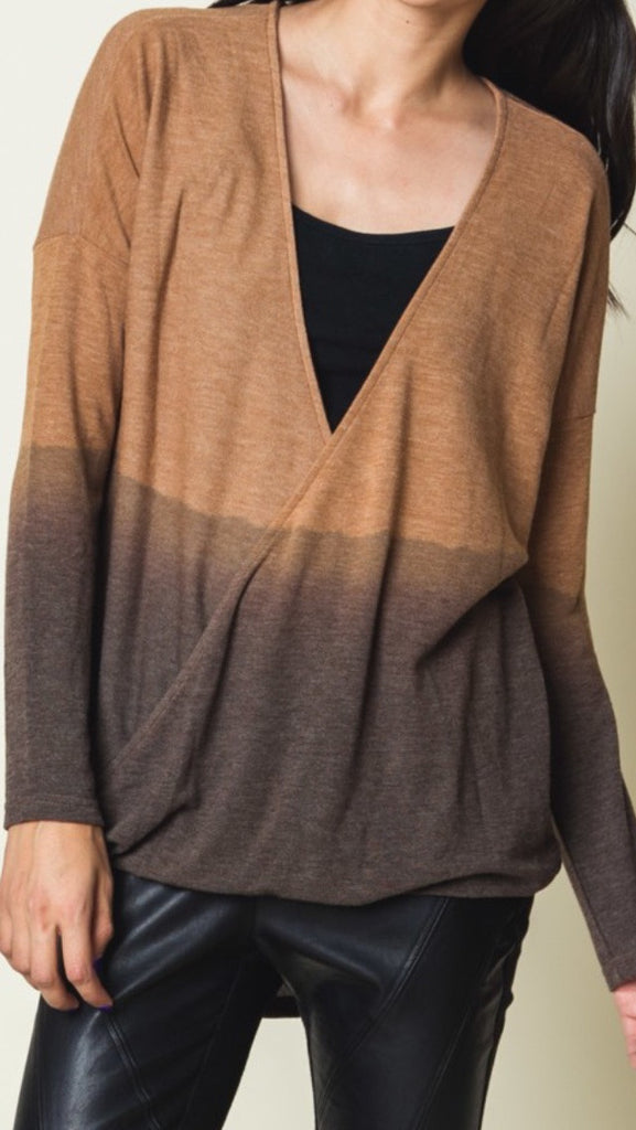 Camel Faded Black Top