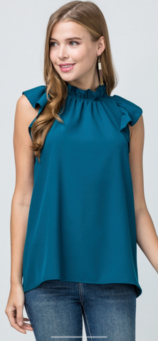 Peacock Ruffle Top