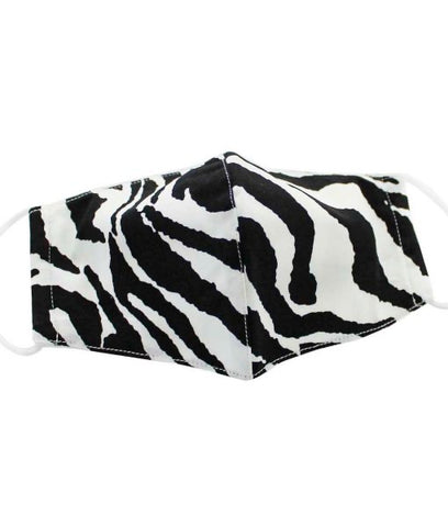 Zebra Face Mask Medium