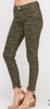 Distressed 5 pocket CAMO skinny jeans
