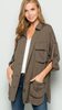 Chic lightweight utility jacket Olive