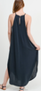 Modal Maxi Halter Dress Grey