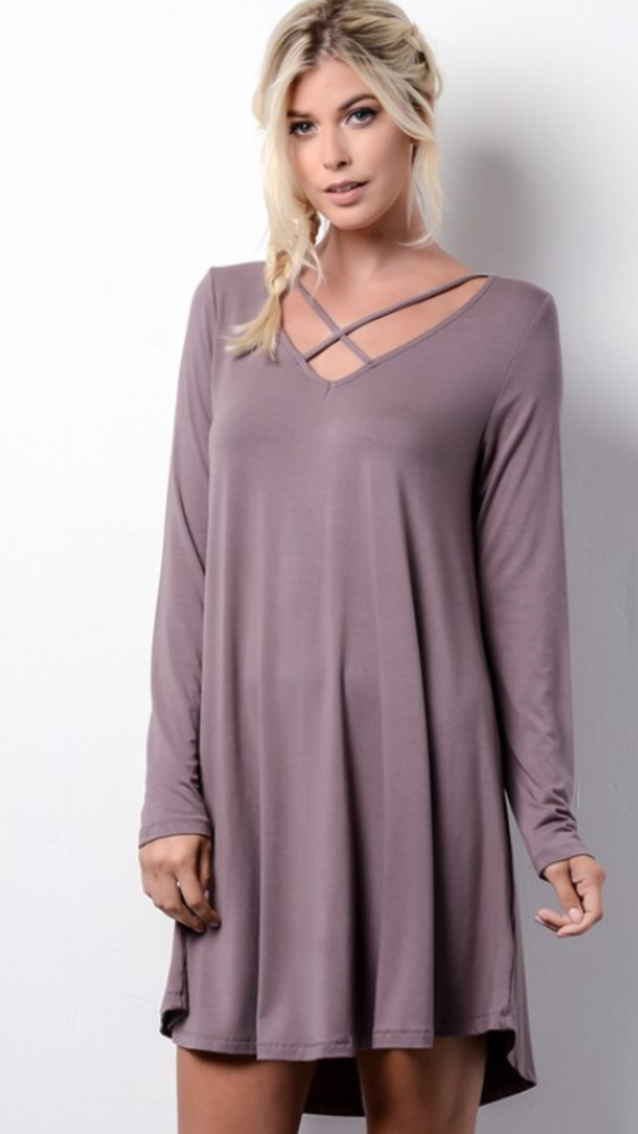 Long Sleeved Swing Dress