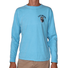 Load image into Gallery viewer, BUCKET LIST LONG SLEEVE TEE BLUE