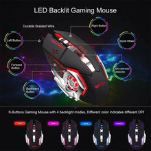 Load image into Gallery viewer, MFTEK Gaming Keyboard and Mouse Combo