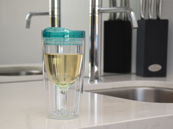 SPILL PROOF WINE SIPPY CUP SEAFOAM GREEN TRAVINO