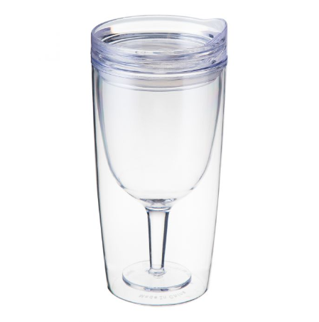 TRAVINO WINE TUMBLER CRYSTAL CLEAR