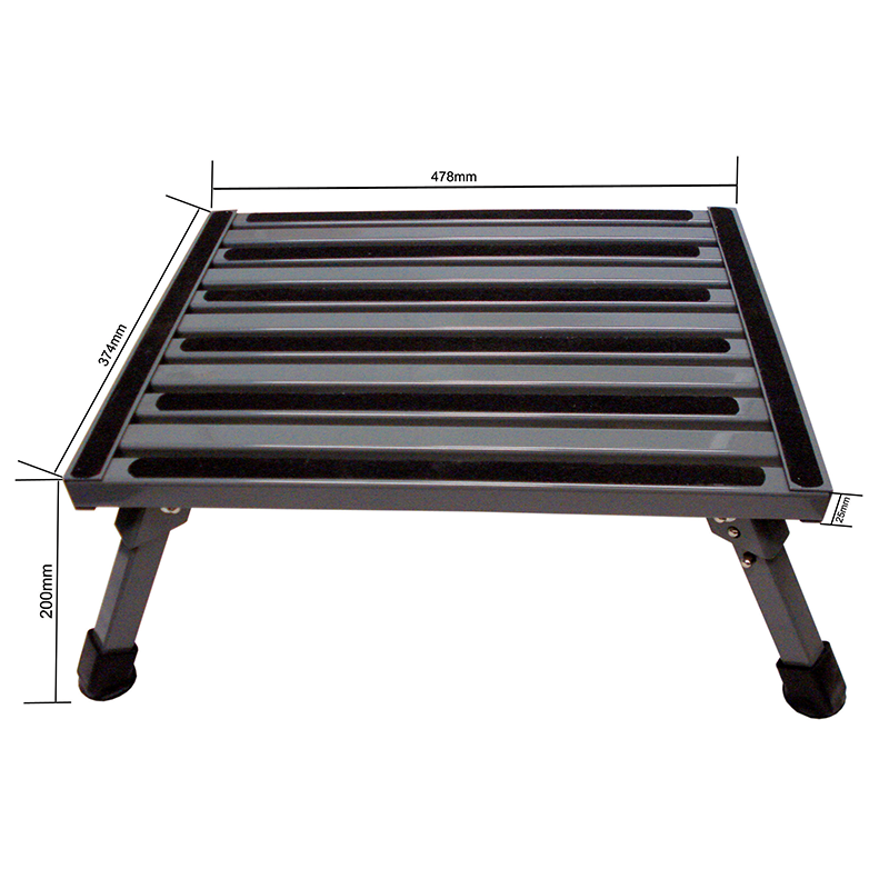 COAST ALUMINIUM FOLDING STEP W/NON-SKID PLATFORM