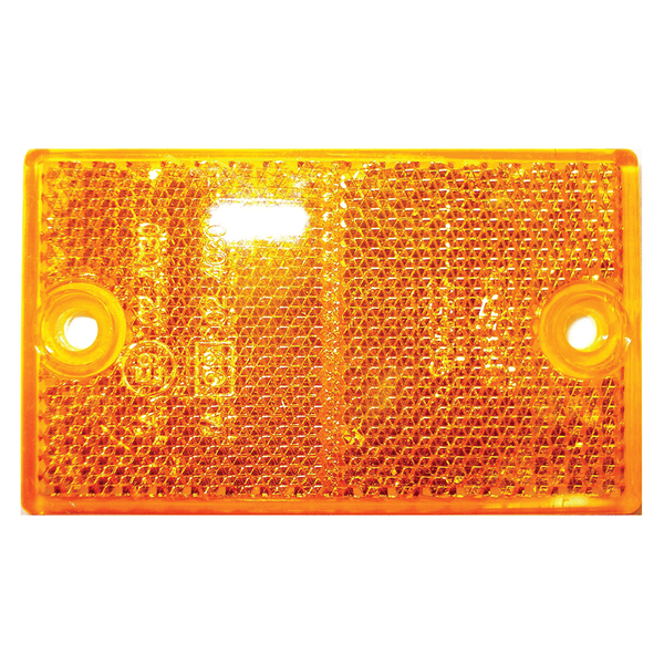 COAST RECTANGULAR SCREW MOUNT REFLECTOR AMBER. 47003A