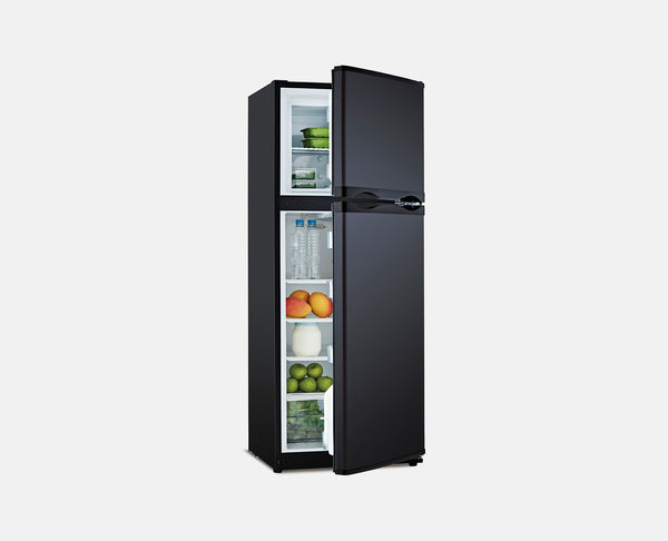 285L DC 12V/24V (BLACK) 12V UPRIGHT CARAVAN FRIDGE