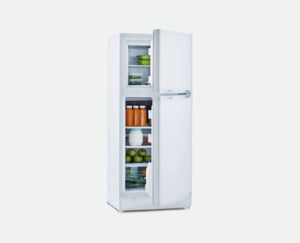 185L LPG / 240V (WHITE) BUSHMAN FRIDGE/FREEZER