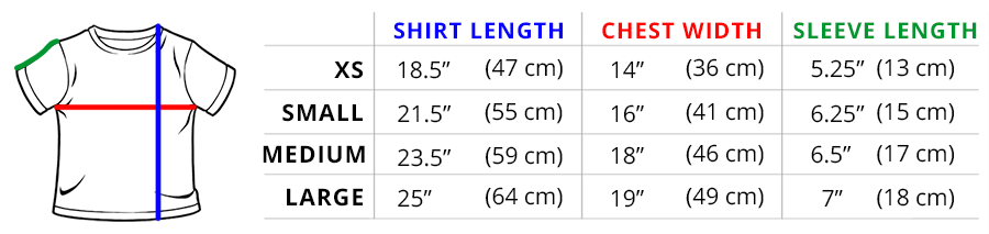 TeeTurtle Kids Sizing Guide