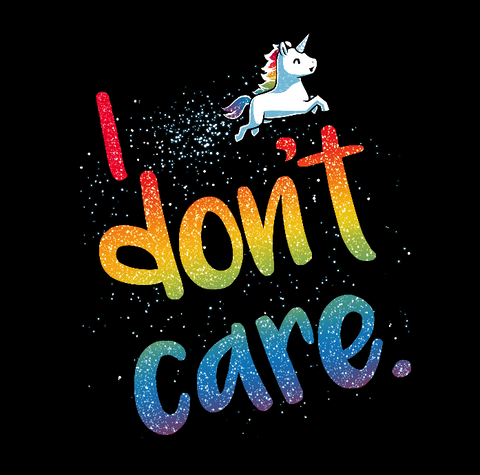 I Don't Care t-shirt TeeTurtle