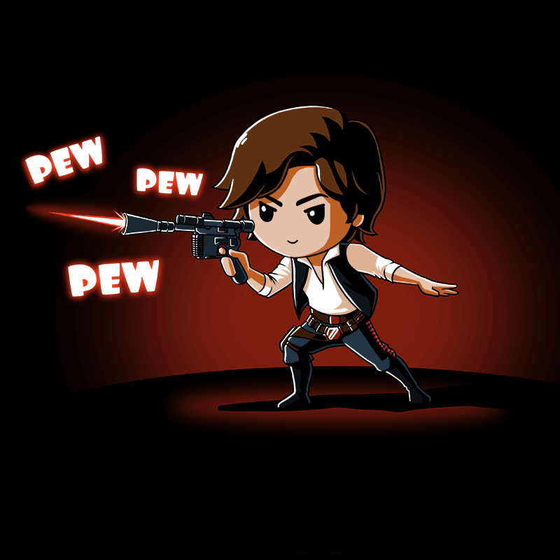 Pew Pew Han Solo T-Shirt Star Wars TeeTurtle