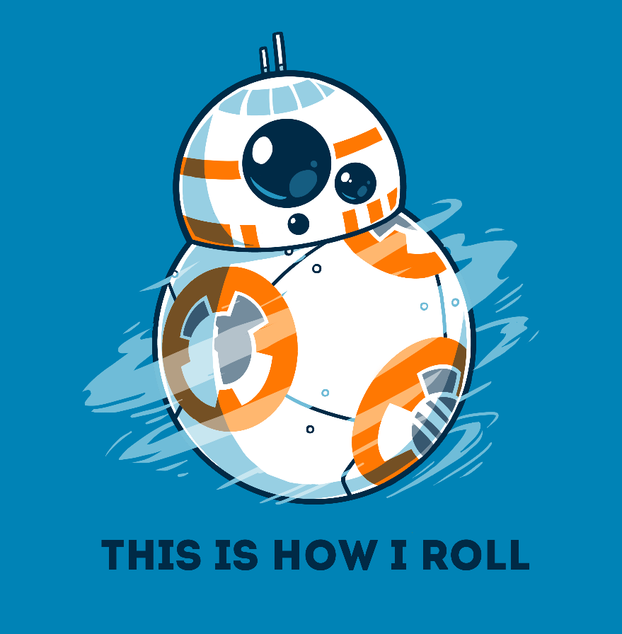 This is How I Roll T-Shirt Star Wars TeeTurtle