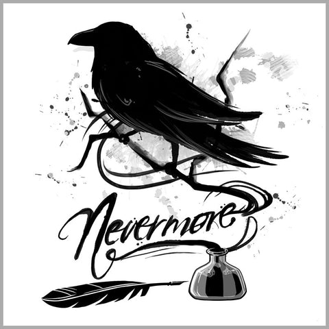 Nevermore White t-shirt TeeTurtle