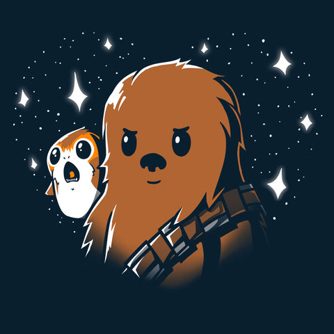 BFFs Chewie and Porgs T-Shirt Star Wars TeeTurtle