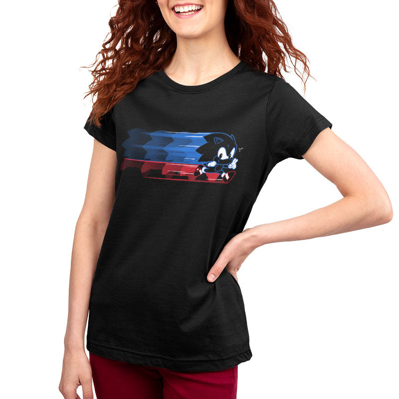 Gotta Go Fast Women's Relaxed Fit T-Shirt Model Sonic the Hedgehog TeeTurtle