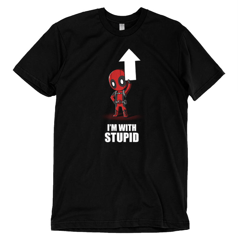 I'm With Stupid T-Shirt Marvel - Deadpool/X-Men TeeTurtle