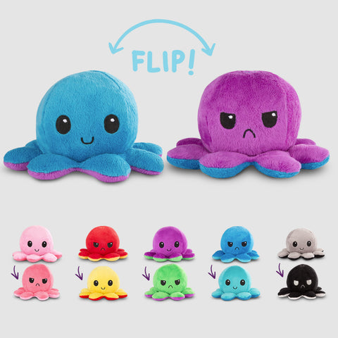 Reversible Octopus Mini Plushies TeeTurtle Minis