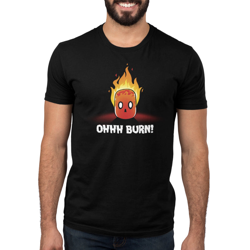 Ohhh Burn! Men's T-Shirt Model TeeTurtle
