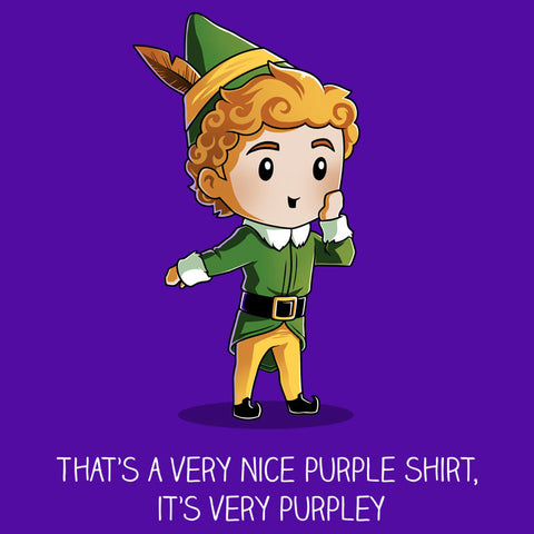 The Most Purpley Shirt Elf TeeTurtle