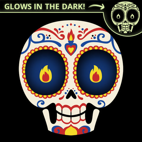 Sugar Skull Glow T-Shirt TeeTurtle
