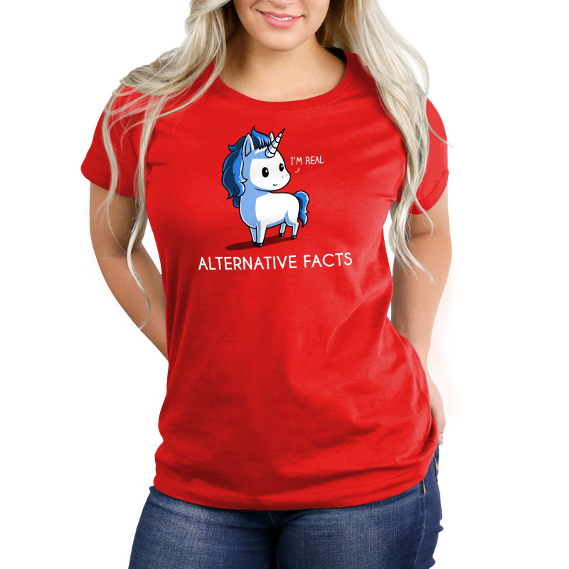 Alternative Facts Unicorn Women's Relaxed T-Shirt Model TeeTurtle