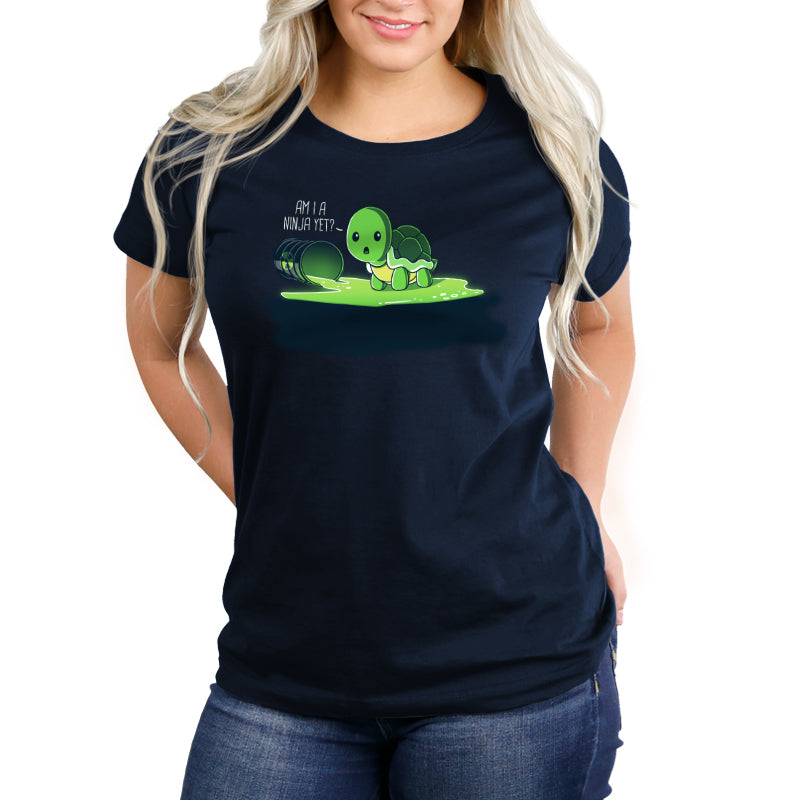 Am I A Ninja Yet? Women's Relaxed T-Shirt Model TeeTurtle