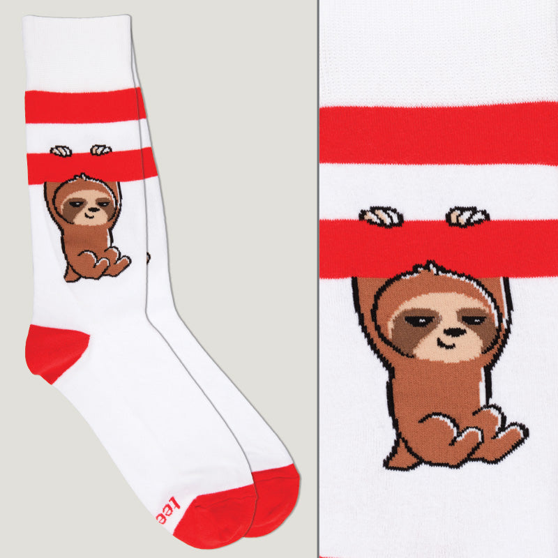 Red and White Athletic Socks TeeTurtle