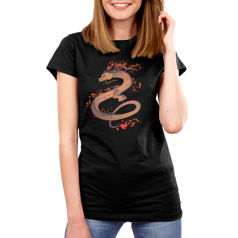 Autumn Dragon Women's T-Shirt Model TeeTurtle