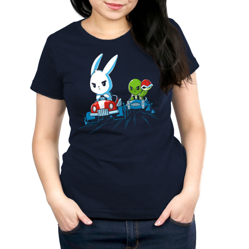Back the Shell Off Women's Relaxed Fit T-Shirt Model TeeTurtle