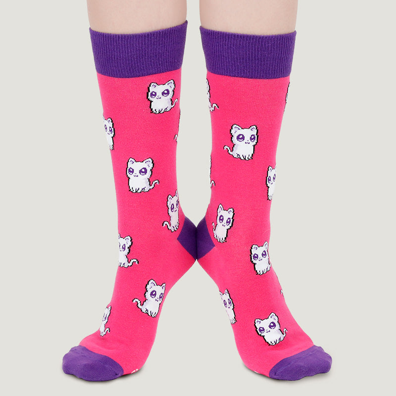 Bad Kitty Socks (Pink)