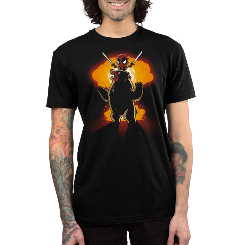 Badass Deadpool Shirt Men's T-Shirt Model Marvel TeeTurtle
