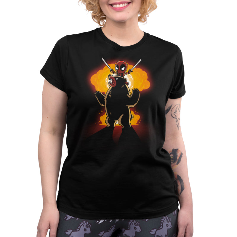 Badass Deadpool Shirt Women's T-Shirt Model Marvel TeeTurtle