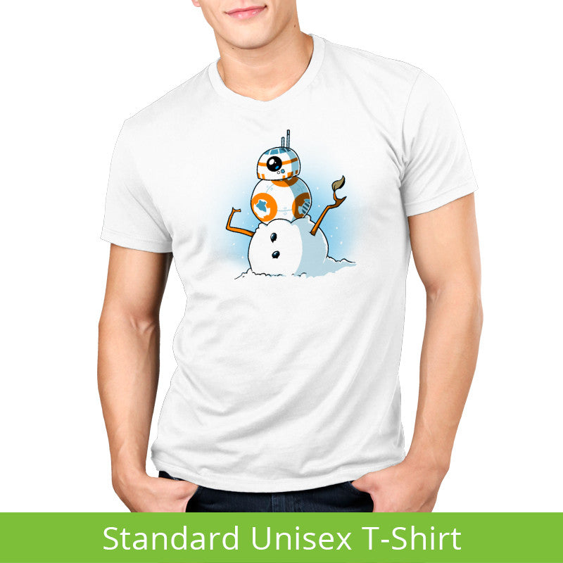 BB-8 Snowman Standard t-shirt model Star Wars TeeTurtle