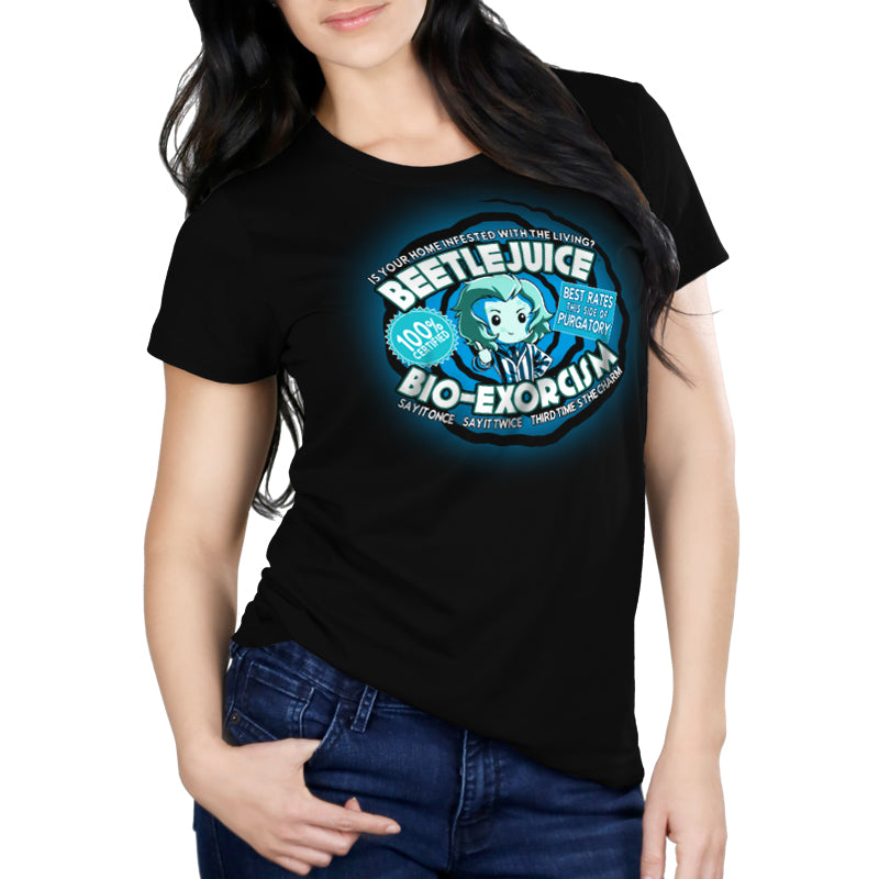 Beetlejuice Bio-Exorcism Women's Relaxed t-shirt model TeeTurtle