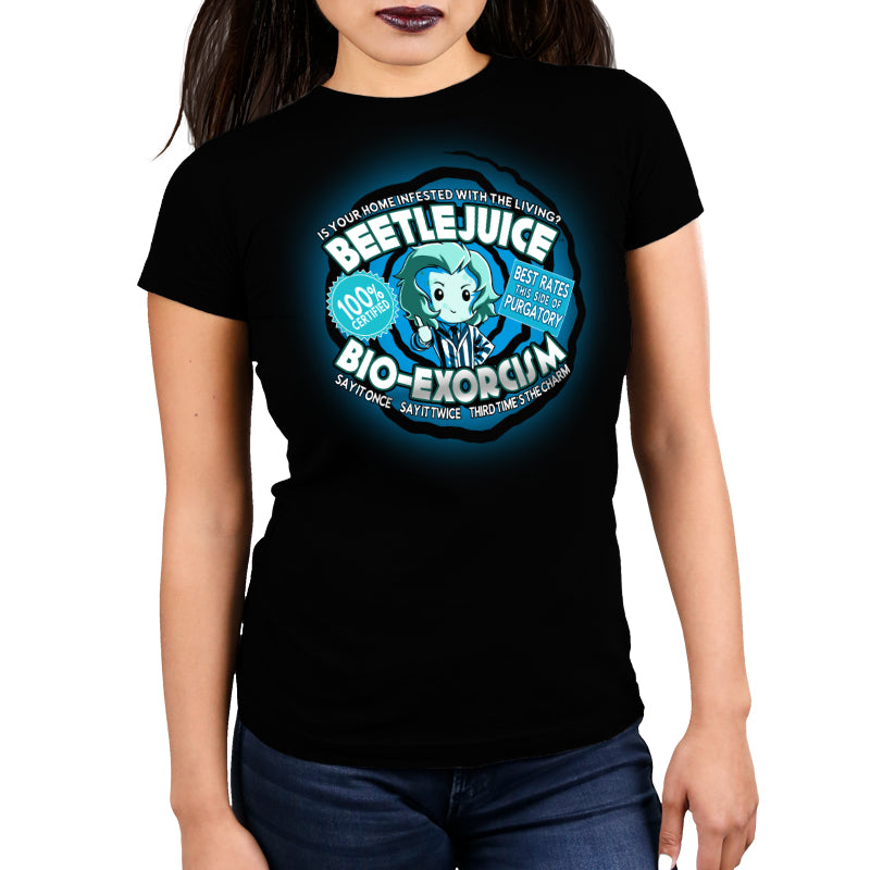 Beetlejuice Bio-Exorcism Women's Ultra Slim t-shirt model TeeTurtle