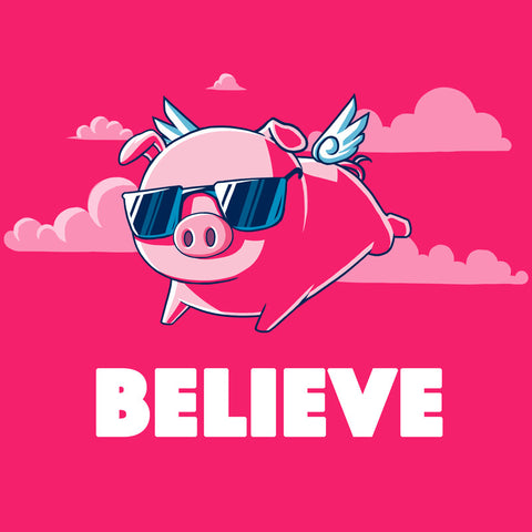 Believe Hot Pink t-shirt TeeTurtle